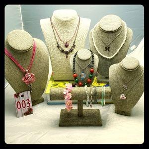 Girls Jewelry Grab Bag Lot Necklaces Bracelets 003